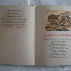 Libros de segunda mano: BELLA EDICIÓN DE LA FONTAINE. FABLES CHOISIES.1944. FOLIO.2 TOMOS.MUCHOS GRABADOS. Lote 60299587