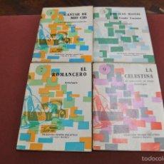 Libros de segunda mano: LOTE 4 LIBROS COLECCIÓN PRIMERA BIBLIOTECA LITERATURA ESPAÑOLA , ANTOLOGIA - CLB. Lote 61149235