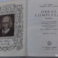 Libros de segunda mano: CALDERON OBRAS COMPLETAS DRAMAS AGUILAR 1945. Lote 62815908