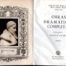 Libros de segunda mano: TIRSO DE MOLINA : OBRAS DRAMÁTICAS COMPLETAS TOMO I (AGUILAR ETERNAS , 1946) FILOS DECORADOS. Lote 64248451