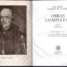 Libros de segunda mano: CALDERÓN DE LA BARCA : OBRAS COMPLETAS TOMO II - COMEDIAS (AGUILAR ETERNAS, 1952) FILOS DECORADOS. Lote 64292391