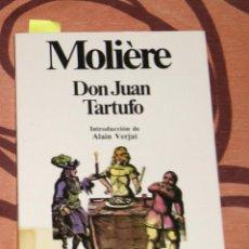 Libros de segunda mano: DON JUAN / TARTUFO MOLIÈRE. Lote 64515647