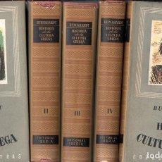 Libros de segunda mano: BURCKHARDT : HISTORIA DE LA CULTURA GRIEGA - CINCO TOMOS (IBERIA, 1947) . Lote 64592015