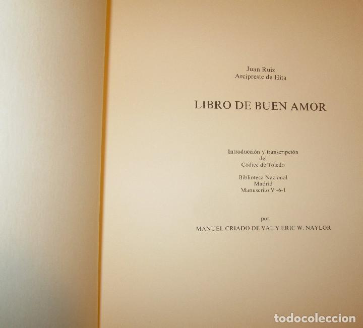 Libros de segunda mano: Libro del buen amor. Arcipreste de Hita - 3 t.(Contorno,Transcripción,Facsimil) - Espasa Calpe 1977 - Foto 8 - 67499925