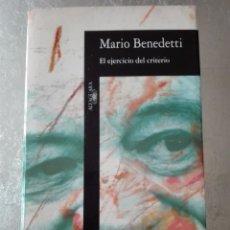 Libros de segunda mano: MARIO BENEDETTI - EL EJERCICIO DEL CRITERIO 1995 ALFAGUARA. Lote 68035341