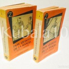 Libros de segunda mano: DON QUIJOTE DE LA MANCHA ·· MIGUEL DE CERVANTES EDICIÓN ILUSTRADA (I) & (II) EDITORIAL JUVENTUD. Lote 42059088