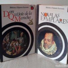 Libros de segunda mano: EL INGENIOSO HIDALGO DON QUIJOTE DE LA MANCHA Y NOVELAS EJEMPLARES - 2 VOLUMENES - RAMON SOPENA. Lote 56257793