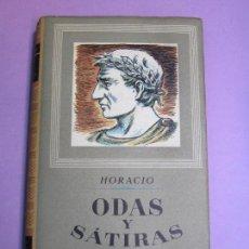 Libros de segunda mano: HORACIO. ODAS Y SÁTIRAS COMPLETAS. Lote 69521837