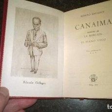 Libros de segunda mano: 340-CANAIMA, ROMULO GALLEGOS,. Lote 69721033