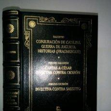 Libros de segunda mano: CONJURACIÓN DE CATILINA GUERRA DE JUGURTA CARTAS A CÉSAR 2000 SALUSTIO PSEUDO SALUSTIO CICERÓN. Lote 72241967