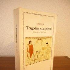 Libros de segunda mano: SÓFOCLES: TRAGEDIAS COMPLETAS (CÁTEDRA, LETRAS UNIVERSALES, 2005) MUY BUEN ESTADO. Lote 115709504