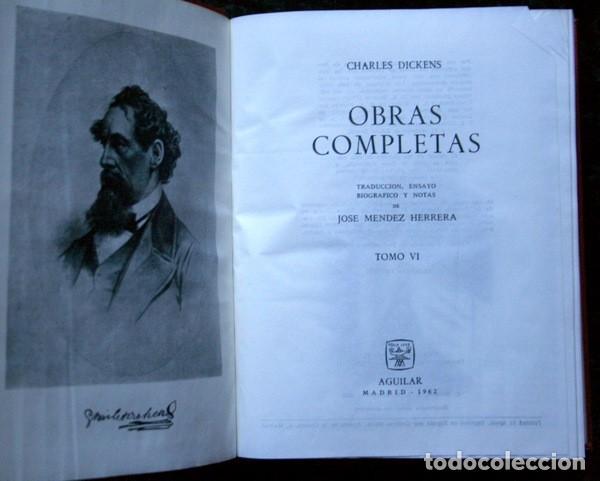 Libros de segunda mano: DICKENS - OBRAS COMPLETAS - TOMO VI - AGUILAR - 1962 - PIEL - Foto 4 - 73407547