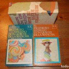 Libros de segunda mano: DON QUIJOTE DE LA MANCHA. CERVANTES. 2 TOMOS + ESTUCHE. Lote 74137995