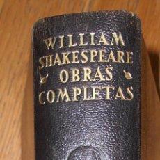 Libros de segunda mano: WILLIAM SHAKESPEARE OBRAS COMPLETAS, AGUILAR ETERNAS, 1951 CANTOS PINTADOS. Lote 75288079