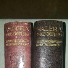 Libros de segunda mano: OBRAS COMPLETAS - JUAN VALERA - 2 TOMOS - 1ª Y 2ª EDICION 1942. Lote 182901742