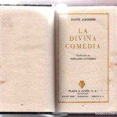 Libros de segunda mano: LA DIVINA COMEDIA. DANTE ALIGHIERI. PLAZA JANES 1961 PRIMERA EDICIÓN CON ESTUCHE. Lote 79542749