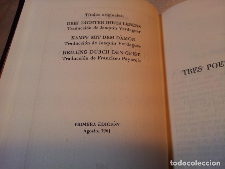 Libros de segunda mano: TRES POETAS DE SU VIDA --BIOGRAFIAS. ZWEIG Stefan. Plaza & Janés, editores. 1961 EDICION LUJO - Foto 4 - 80713342