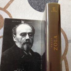 Libros de segunda mano: EMILE ZOLA OBRAS SELECTAS AUSTRAL SUMMA ESPASA 2002. Lote 80731314