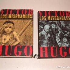 Libros de segunda mano: VÍCTOR HUGO. LOS MISERABLES 1 Y 2. DOS TOMOS. RM79646. . Lote 81753840