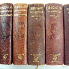 Libros de segunda mano: L-2167. B.PEREZ GALDÓS. OBRAS COMPLETAS Y NOVELAS. 6 TOMOS. M.AGUILAR EDITOR.3ª EDICION 1950 Y 1941.. Lote 82003376