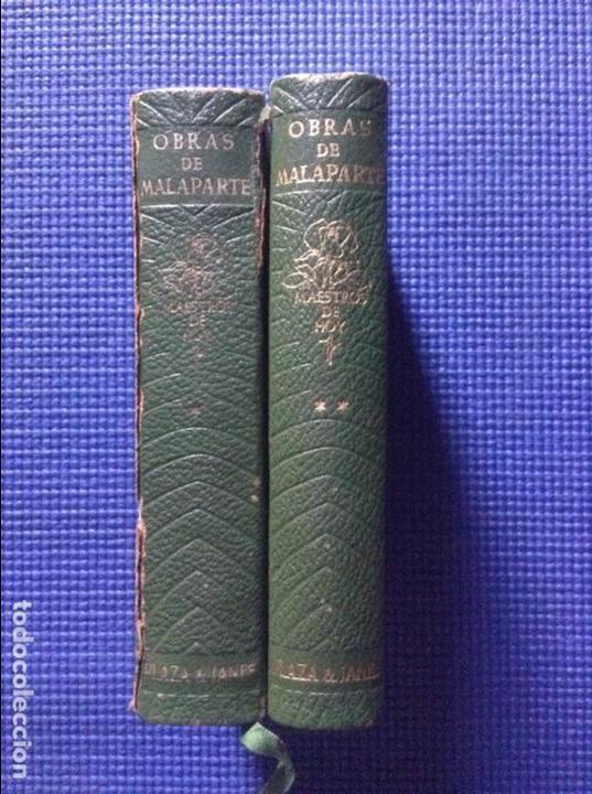OBRAS DE MALAPARTE PLAZA & JANES 2 TOMOS (Libros de Segunda Mano (posteriores a 1936) - Literatura - Narrativa - Clásicos)