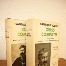 Libros de segunda mano: SANTIAGO RUSIÑOL: OBRES COMPLETES I I II (SELECTA, PERENNE, 1973 I 1976) MOLT BON ESTAT. Lote 82196568