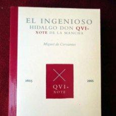 Libros de segunda mano: EL INGENIOSO HIDALGO DON QUIXOTE DE LA MANCHA. MIGUEL DE CERVANTES. Lote 83319524