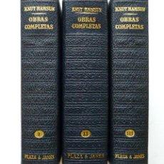 Libros de segunda mano: KNUT HAMSUN OBRAS COMPLETAS LOS CLASICOS DEL SIGLO XX PLAZA Y JANES MUY BUEN ESTADO. Lote 83458468