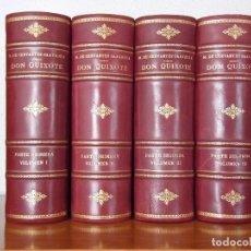 Libros de segunda mano: DON QUIJOTE, CON 94 ILUSTRACIONES ORIGINALES DE HENRY LEMARIÉ. 4 VOL.. Lote 85204584
