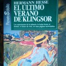 Libros de segunda mano: HERMAN HESSE - EL ULTIMO VERANO .. Lote 85699796