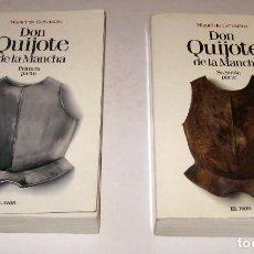 Libros de segunda mano: DON QUIJOTE DE LA MANCHA - CERVANTES - 2 TOMOS *. Lote 86297808