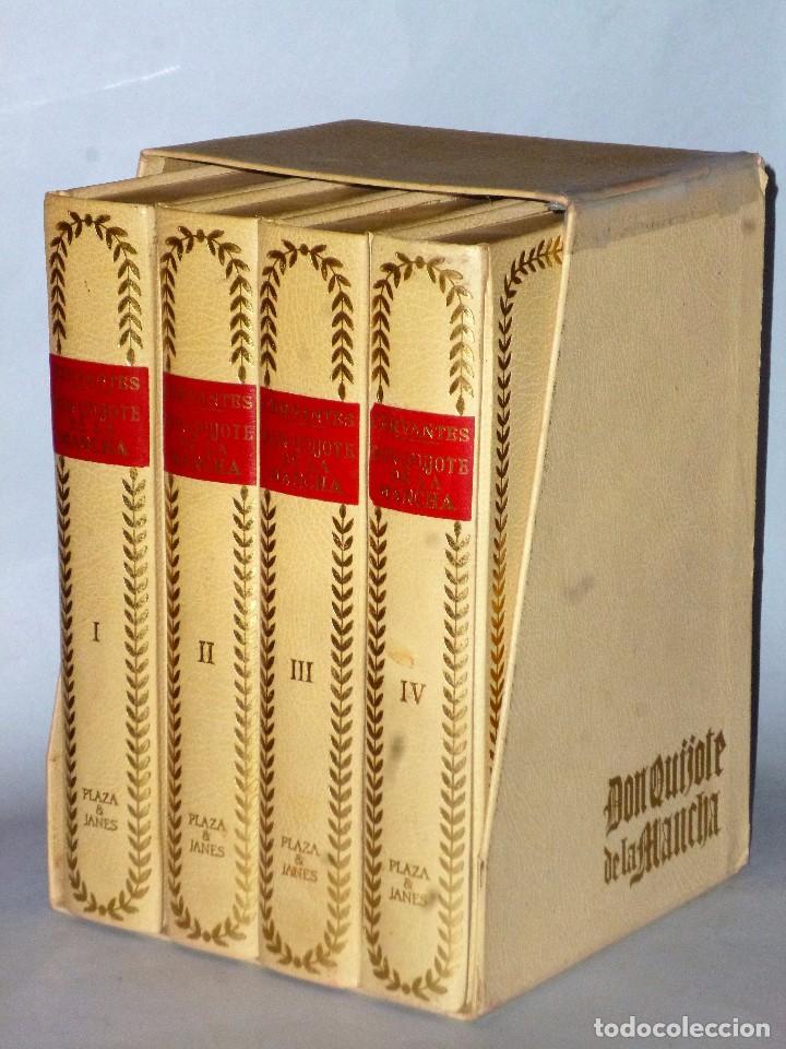 EL INGENIOSO HIDALGO DON QUIJOTE DE LA MANCHA (4 TOMOS) (Libros de Segunda Mano (posteriores a 1936) - Literatura - Narrativa - Clásicos)
