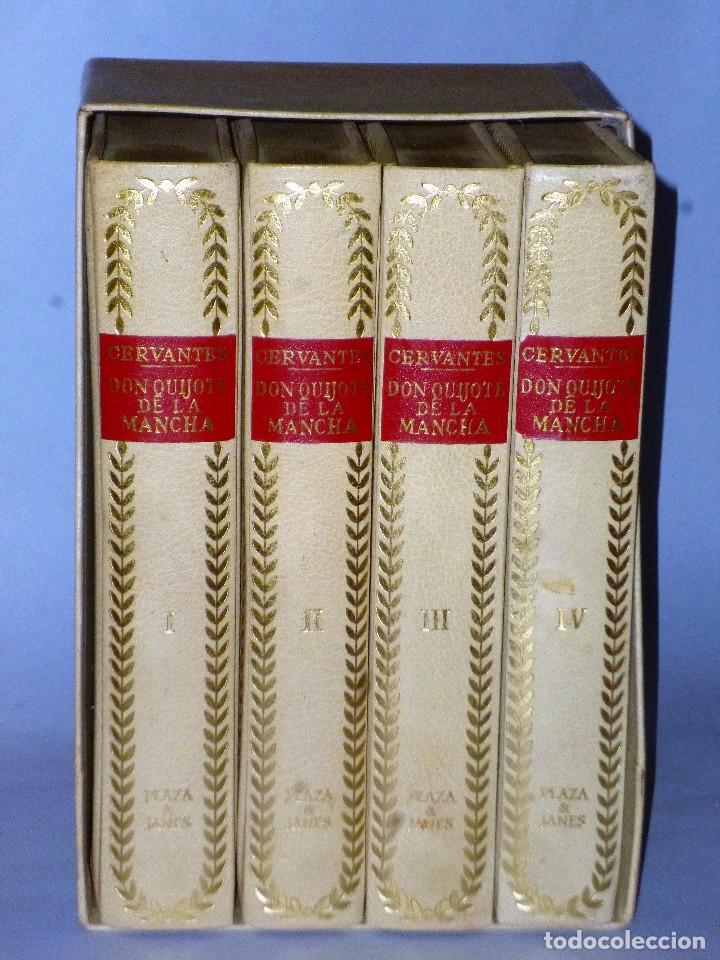 Libros de segunda mano: EL INGENIOSO HIDALGO DON QUIJOTE DE LA MANCHA (4 TOMOS) - Foto 2 - 86512896