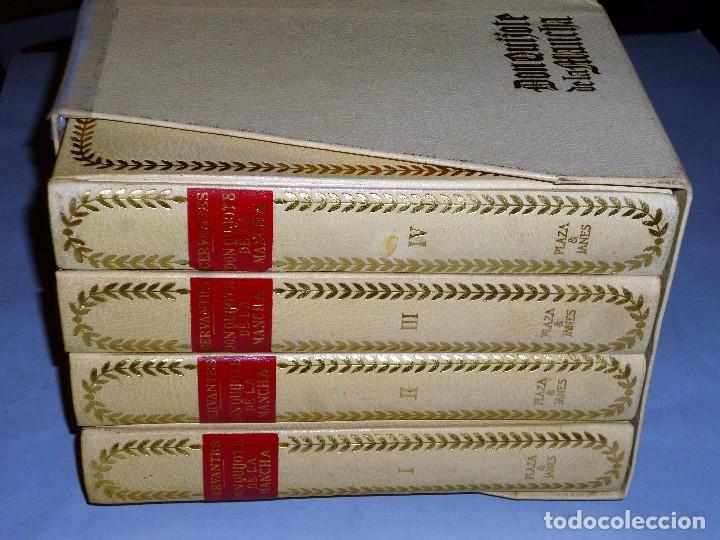 Libros de segunda mano: EL INGENIOSO HIDALGO DON QUIJOTE DE LA MANCHA (4 TOMOS) - Foto 3 - 86512896
