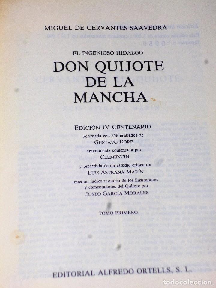 Libros de segunda mano: EL INGENIOSO HIDALGO DON QUIJOTE DE LA MANCHA (4 TOMOS) - Foto 5 - 86512896