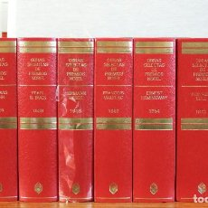 Libros de segunda mano: COLECCIÓN OBRAS SELECTAS DE PREMIOS NOBEL. 8 TOMOS. GASTOS INCLUIDOS. Lote 87915280