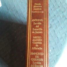 Libros de segunda mano: NOVELA PICARESCA ESPAÑOLA. LARAZILLO. BUSCÓN. GUZMÁN DE ALFARACHE. LIBRO.. Lote 88356570