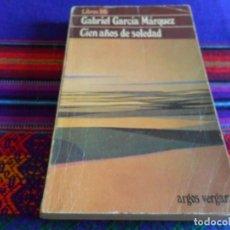 Libros de segunda mano: LIBROS DB Nº 1 CIEN AÑOS DE SOLEDAD DE GABRIEL GARCÍA MÁRQUEZ. ARGOS VERGARA 1979. . Lote 88975496