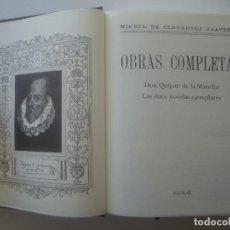 Libros de segunda mano: LUJOSA EDICION AGUILAR DE LAS OBRAS DE MIGUEL DE CERVANTES. 2003. FOLIO MENOR.. Lote 89750520