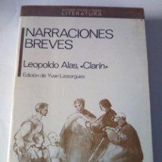 Libros de segunda mano: NARRACIONES BREVES. CLARÍN ED ANTHROPOS 1ª EDICION 1989. Lote 90195924