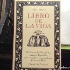 Libros de segunda mano: LIBRO,DE LA,VIDA. SANTA TERESA. Lote 90509554
