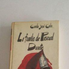 Libros de segunda mano: LA FAMILIA PASCUAL DUARTE - 1972 - CAMILO JOSE CELA. Lote 91012795