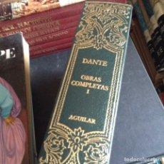 Libros de segunda mano: OBRAS COMPLETAS. DANTE. Lote 91028642