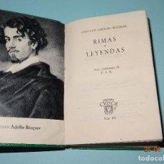 Libros de segunda mano: RIMAS Y LEYENDAS DE GUSTAVO ADOLFO BECQUER CRISOL Nº 279 EDIT AGUILAR - 5ª EDICIÓN - AÑO 1960. Lote 152652585