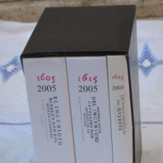 Libros de segunda mano: EL INGENIOSO HIDALGO DON QUIXOTE DE LA MANCHA.ED.FACSIMIL-1ªY2ª.PARTE:1605Y1615 Y LIBRO LECTURAS.. Lote 116835008
