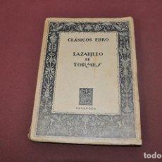 Libros de segunda mano: CLÁSICOS EBRO , LAZARILLO DE TORMES - 9ª EDICIÓN ILUSTRADA - CL5. Lote 91462270