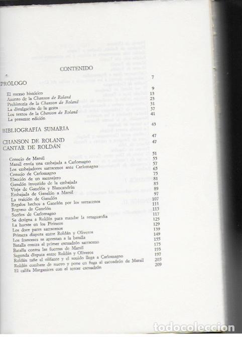 Libros de segunda mano: Chanson de Roland = Cantar de Roldan y el Roncesvalles Navarro / Martin de Riquer. BCN : El Festin - Foto 2 - 93302320