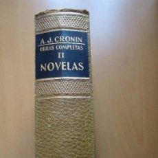 Libros de segunda mano: LIBRO. A.J. CRONIN, OBRAS COMPLETAS, NOVELAS TOMO 2ª CON 4 TÍTULOS, EN PIEL Y LETRAS DORADAS. OJO.. Lote 94140865