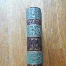Libros de segunda mano: QUEVEDO OBRAS ESCOGIDAS, CLASICOS EXITO. Lote 94939591