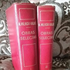 Livres d'occasion: OBRAS SELECTAS DE PALACIO VALDES. 2 TOMOS, COMPLETA. PLANETA, 1967 (2A ED.).. Lote 95000787